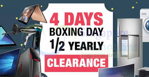 Featured image for Harvey Norman: Up to 72% off Boxing Day half yearly clearance sale! From 23 – 26 Dec 2017