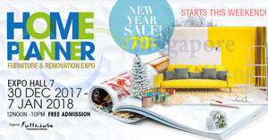 Featured image for Home Planner 2018 furnishing show at Singapore Expo! From 30 Dec 2017 – 7 Jan 2018