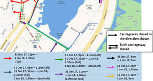 Featured image for Marina Bay Singapore Countdown 2018 road closures from 31 Dec 2017 – 1 Jan 2018
