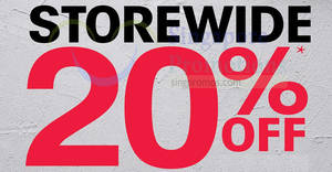 OG: 20% OFF storewide sale at all outlets! Ends 1 May 2018