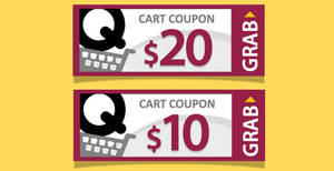 Qoo10: Grab free $10 and $20 cart coupons! From 20 – 21 Jan 2018