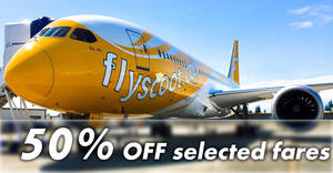 Scoot: 50% OFF selected fares to Australia, Taiwan, Japan & more! Book on Tuesday, 26 Jun 2018
