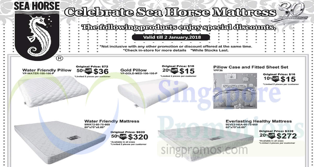 Sea Horse: Save up to 50% off selected furniture – mattresses, bed ...