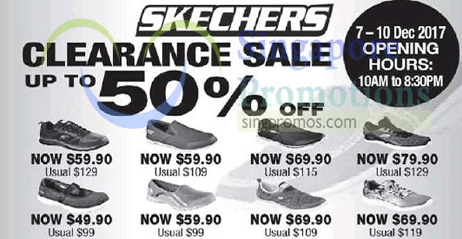 f873c498721 Skechers: Up to 50% OFF clearance sale at Safra Toa Payoh! From 7 – 10 Dec  2017
