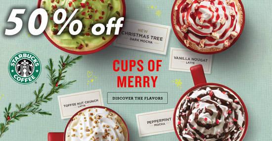 Starbucks 50 OFF 2 Dec 2017