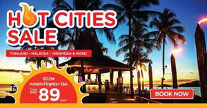 Air Asia Go: Grab a 3D2N vacation fr $89/pax (Hotel + Flights + Taxes)! Ends 28 Jan 2018