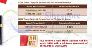 Bank of China: Earn up to 1.35% p.a. with 10-mth time deposits! From 18 Jan 2018
