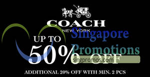 Coach: Up to 50% OFF special sale at Shaw House from 17 – 29 Jan 2018
