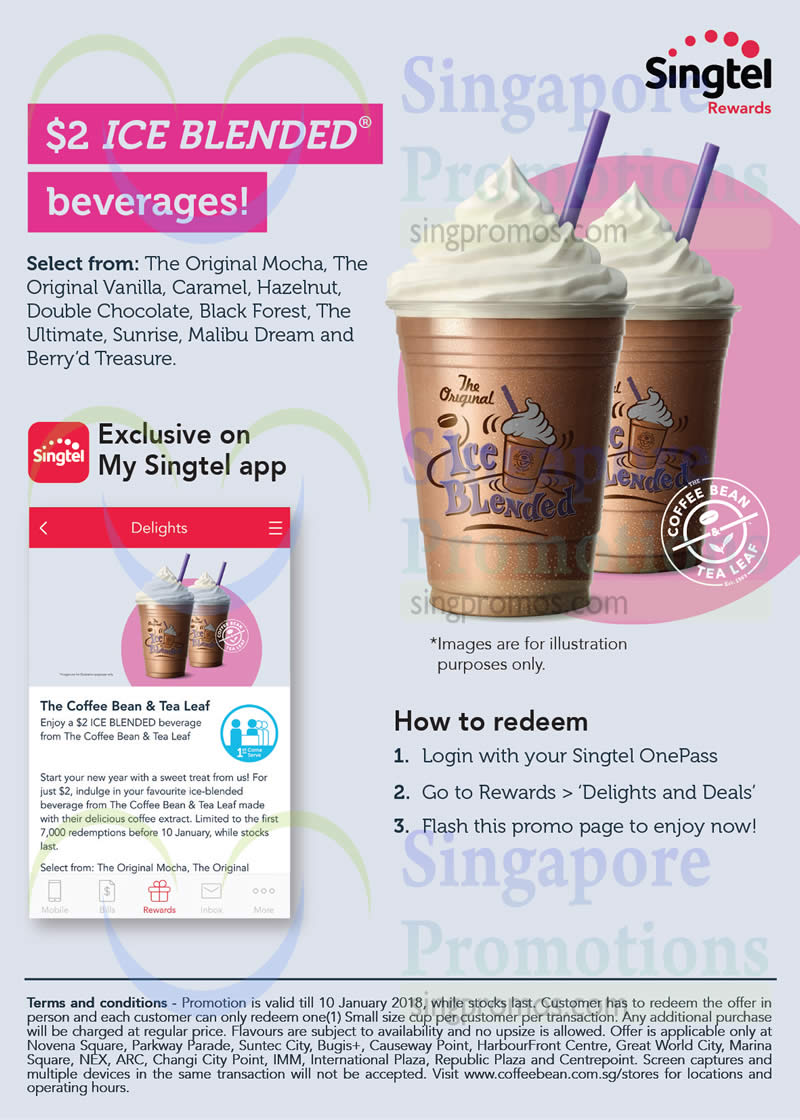 Coffee bean and tea leaf coupons 2018