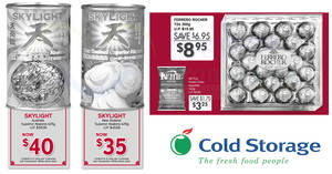 Cold Storage 3-day offers: Skylight Abalone NZ/AU, Ferrero Rocher, Kettle Potato Chips, Skylight Abalone & more! Ends 21 Jan 2018