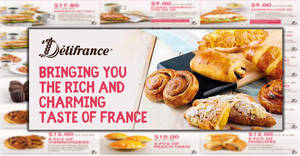 Delifrance: NEW discount coupon deals offers savings of up to $15.60! Valid till 29 May 2018