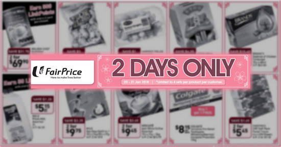 Fairprice twodays offers feat 20 Jan 2018