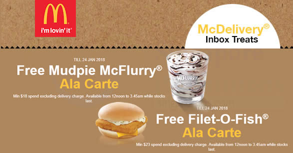 Mcdonald s mcdelivery coupon codes for free mudpie for Mcdonalds filet o fish deal