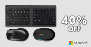 Microsoft Store: Save 40% OFF selected keyboards, mice, webcams & more! From 22 – 29 Jan 2018