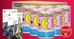 New Moon Official E-Store: Six cans of New Zealand Abalone 425g bundle deal! Valid from 16 Jan 2018