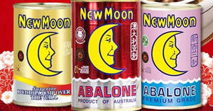 New Moon Official E-store: $67 for New Zealand 425g & Australia 425g abalone cans! Valid from 19 Jan 2018