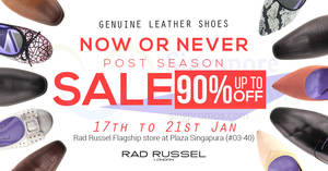 Rad Russel: Up to 90% OFF warehouse sale from 17 – 21 Jan 2018