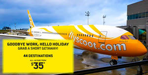 Scoot: Fly to over 40 destinations – Langkawi, Hanoi, Surabaya & more – from $35 all-in! Book by 27 Jan 2018