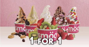 Smöoy: Enjoy 1-For-1 guilt free frozen yogurt! From 22 Jan – 25 Feb 2018
