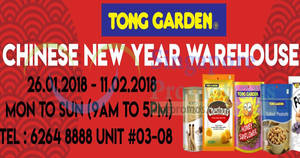 Tong Garden Chinese New Year warehouse sale from 26 Jan – 11 Feb 2018