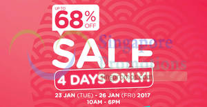 Watsons: Up to 68% OFF four-days only HQ sale! From 23 – 26 Jan 2018