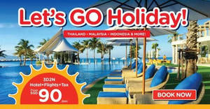Air Asia Go: Grab a 3D2N vacation fr $90/pax (Hotel + Flights + Taxes)! Ends 4 Mar 2018