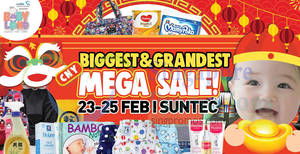 Baby Land mega sale fair at Suntec from 23 – 25 Feb 2018