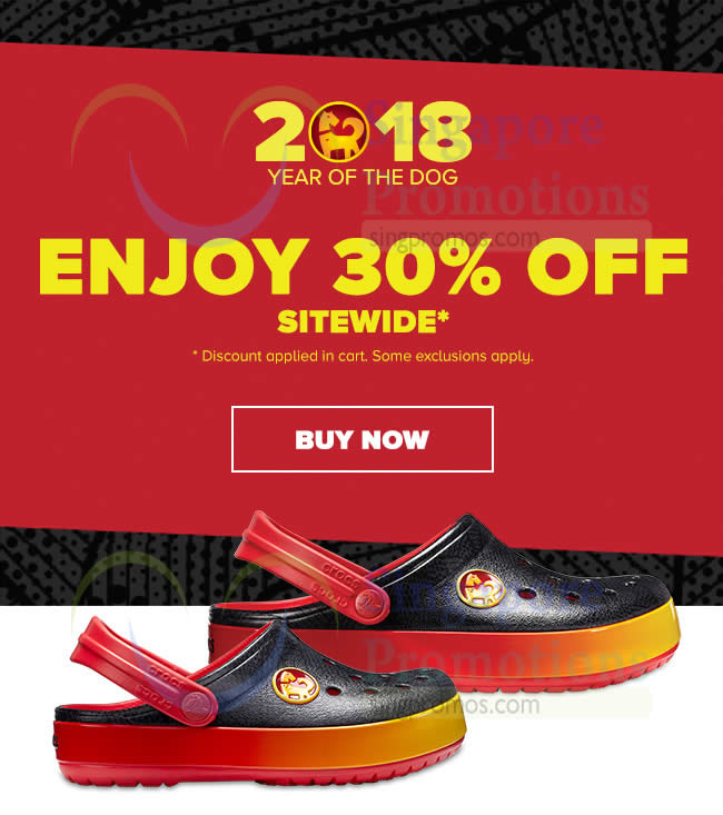 336b9f631c56e9 Crocs  30% OFF NO min spend storewide promotion! Valid till 20 Feb 2018