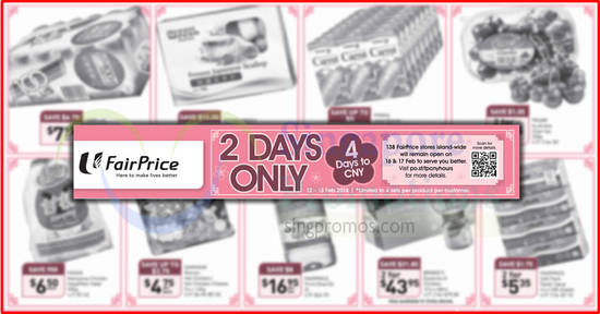 Fairprice 2Days offers feat 12 Feb 2018