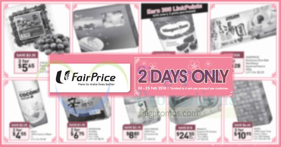 Fairprice 2days offers feat 24 Feb 2018