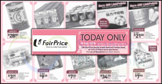 Fairprice TODAY only feat 10 Feb 2018