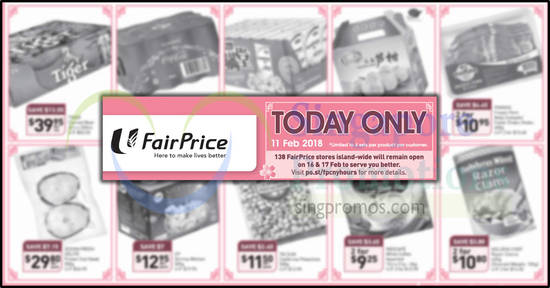 Fairprice TODAY only feat 11 Feb 2018