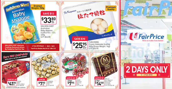 Fairprice Twodays only feat 3 Feb 2018