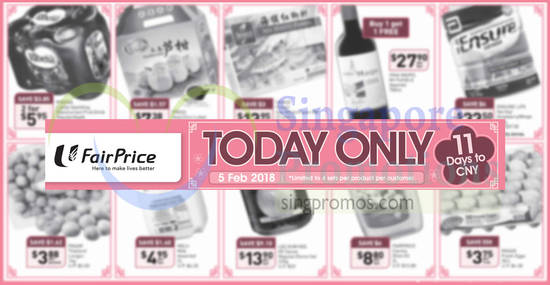 Fairprice Twodays only feat 5 Feb 2018