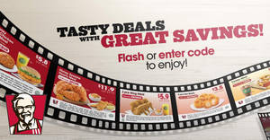KFC: NEW dine-in discount e-coupons – save up to $8.40! Valid till 7 Mar 2018