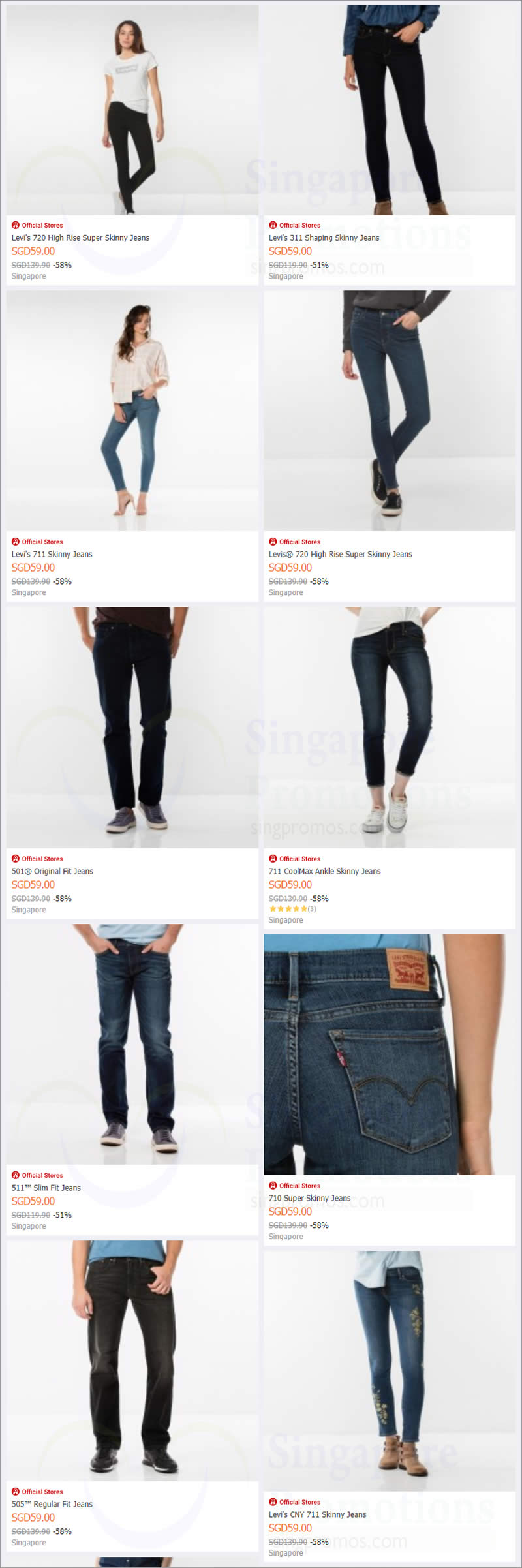 8c728c4b7a6 TODAY Only! Levi s official estore is offering  59 jeans (usual up ...