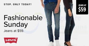 Featured image for TODAY Only! Levi's official estore is offering $59 jeans (usual up to $170) with free delivery! Valid on 4 Feb 2018