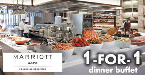 Marriott Cafe: 1-for-1 dinner buffet with DBS/POSB cards! Ends 31 Mar 2018