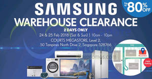 Samsung TV & Home Appliances up to 80% off warehouse clearance sale! Ends 25 Feb 2018