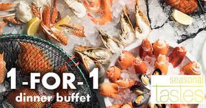 Seasonal Tastes at Westin Singapore offers 1-FOR-1 dinner buffet with UOB cards! Ends 31 Oct 2018