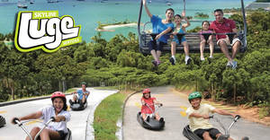 Skyline Luge Sentosa: $30 for five Luge & Skyrides promotion! Valid till 25 Feb 2018
