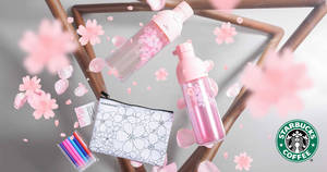 Starbucks launches new spring merchandise inspired by Japanese cherry blossoms! From 21 Feb 2018