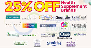 Unity: Save 25% off on participating health supplement brands! From 22 – 28 Feb 2018