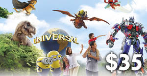 $35 for Universal Studios (9 Mar or 17 Mar visit) + Sentosa Islander Membership deal! From 18 Feb 2018