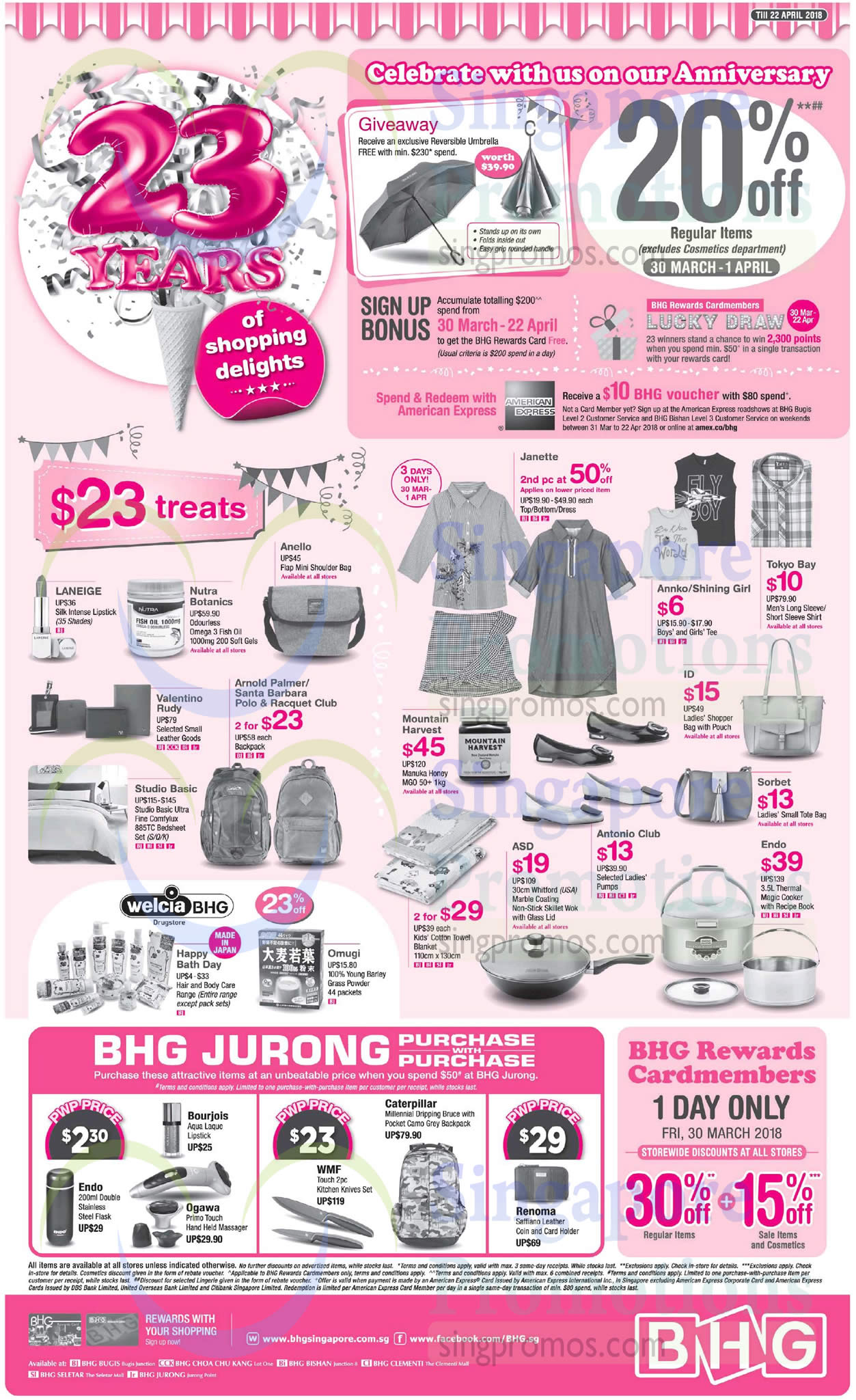 Bhg 20 off regular priced items from 30 mar 1 apr 2018 for Bhg shopping