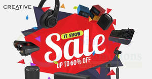 Creative IT SHOW 2018 up to 60% deals are extended online! From 19 – 25 Mar 2018