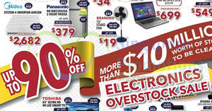 Electronics Overstock Sale 2018 – up to 90% OFF! From 23 – 25 Mar 2018