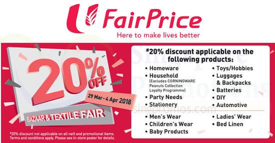 Fairprice 20 OFF feat 29 Mar 2018