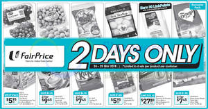 Fairprice: 2-days offers – Yeo's, Frozen Scallop Meat, Kit Kat, & more! Ends 25 Mar 2018