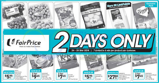 Fairprice 2days offers feat 24 Mar 2018